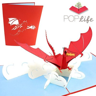 Flying Dragon Pop Up Card