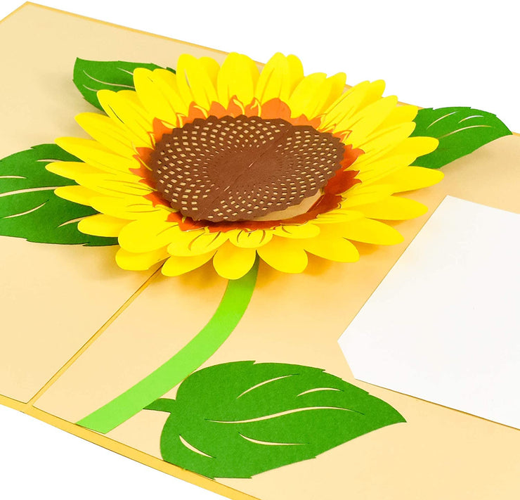 PopLife pop-up card features a beautiful yellow sunflower