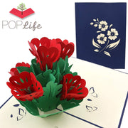 Flower Bed Pop Up Card