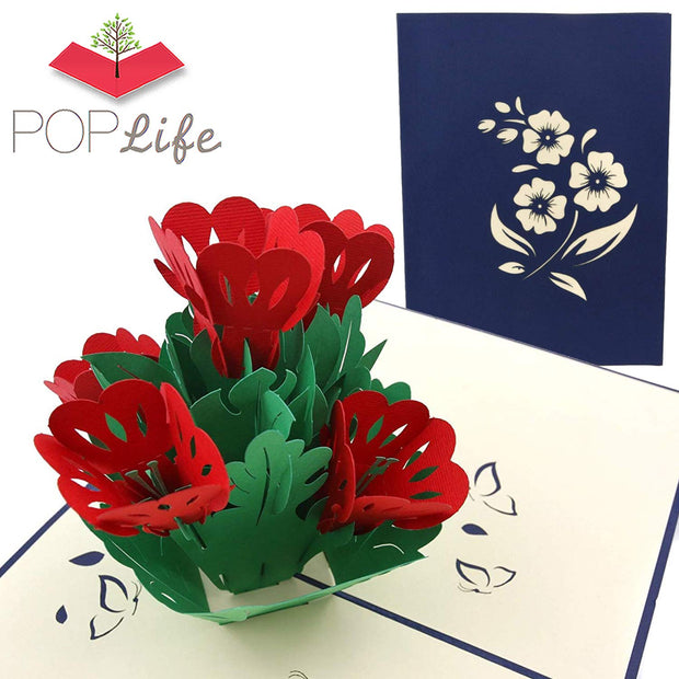 PopLife Flower Bed Pop Up Card