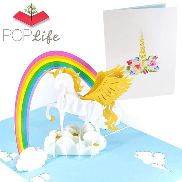 PopLife Unicorn & Rainbow Pop Up Card