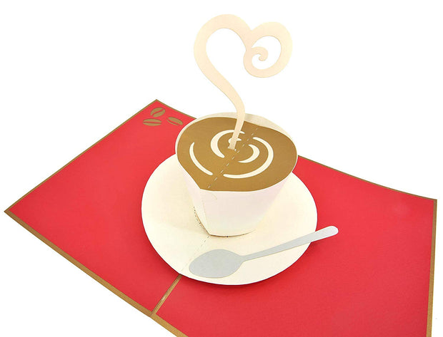 A perfect greeting card for coffee lovers