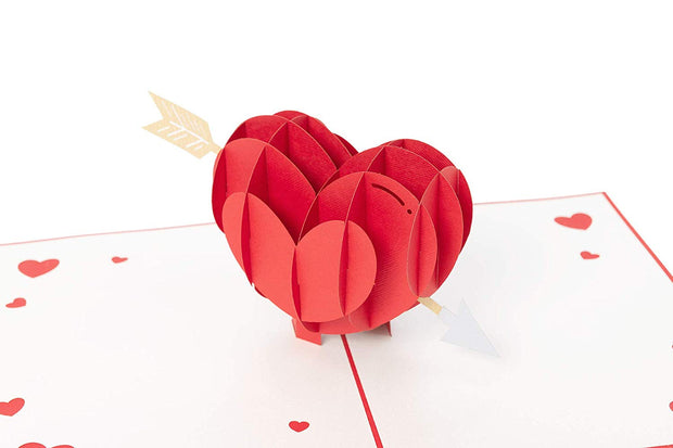 Cupid's Heart Pop Up Card