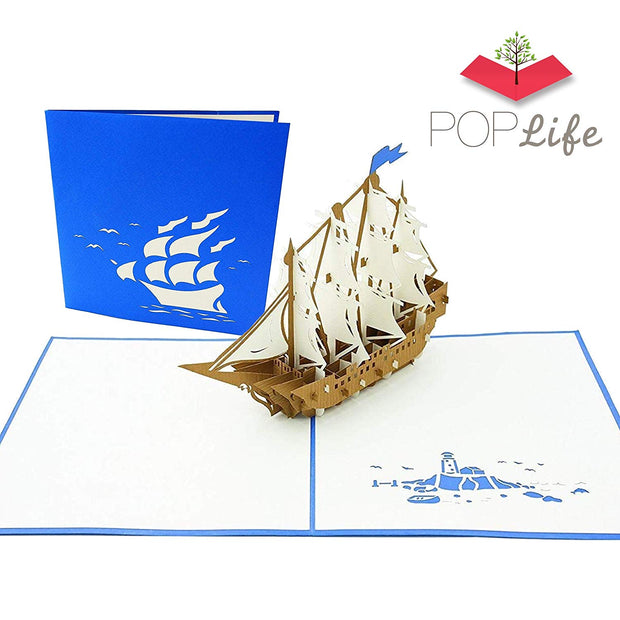Sailboat Tall Ship Pop Up Card