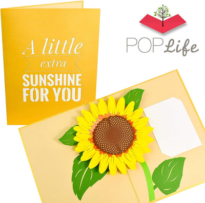 PopLife Sunflower Sunshine Pop Up Card