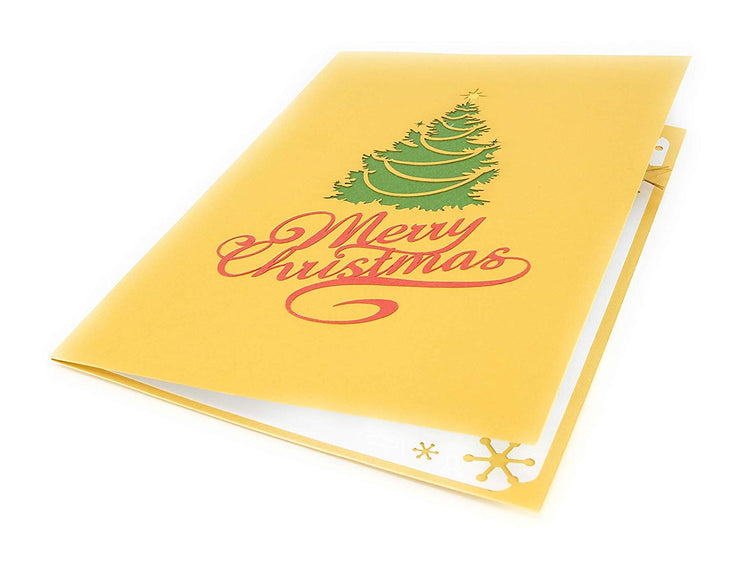 Christmas Tree in Town Square Pop Up Card