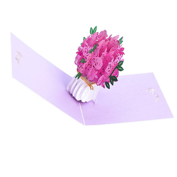 PopLife Pink Rose Bouquet - The Best Selling Mother's Day Card