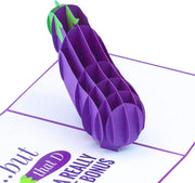 Naughty Eggplant Pop Up Card