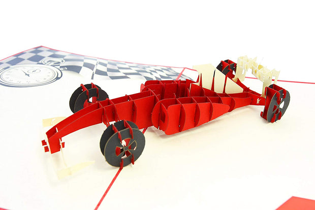 Formula One Car Pop Up Card