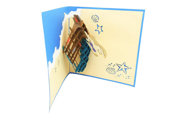 Sea Mermaid pop up card is blank, you can customize it perfectly for any occasion