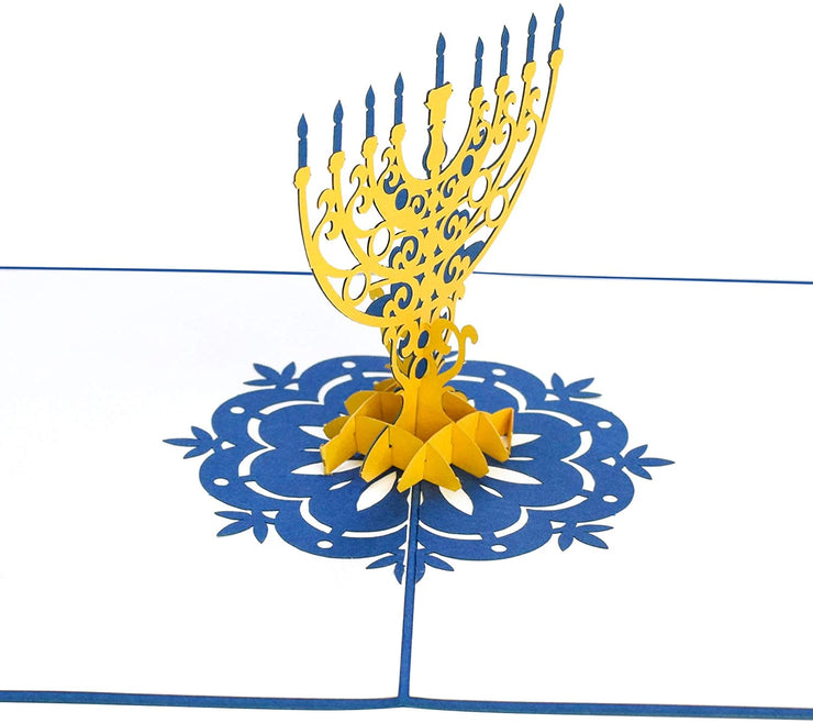 Hanukkah Menorah Pop Up Card