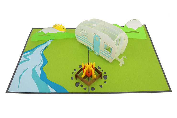 Camping Trip Pop Up Card
