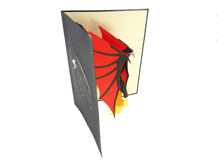 Fire Breathing Dragon Pop Up Card