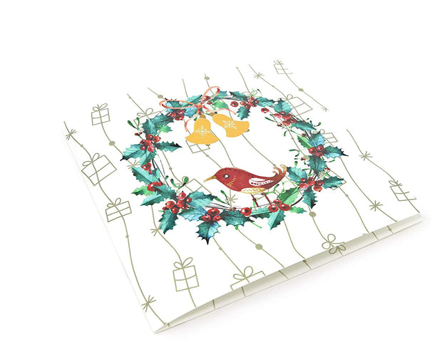 Holiday Wreath Pop Up Christmas Card