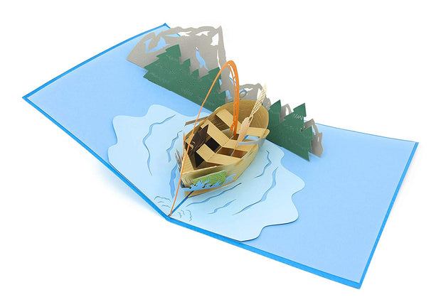 Fishing vessel pop-up greeting card 3D