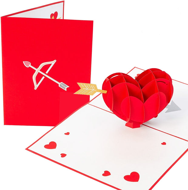 PopLife Cupid's Heart Pop Up Card