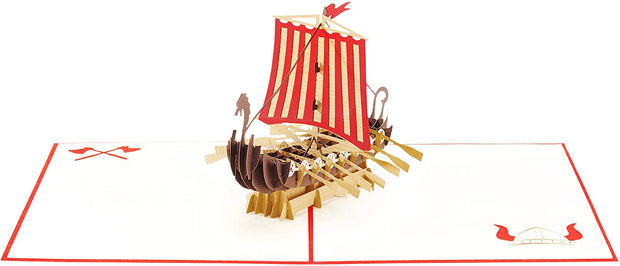 PopLife Pop-Up card features Viking era ships