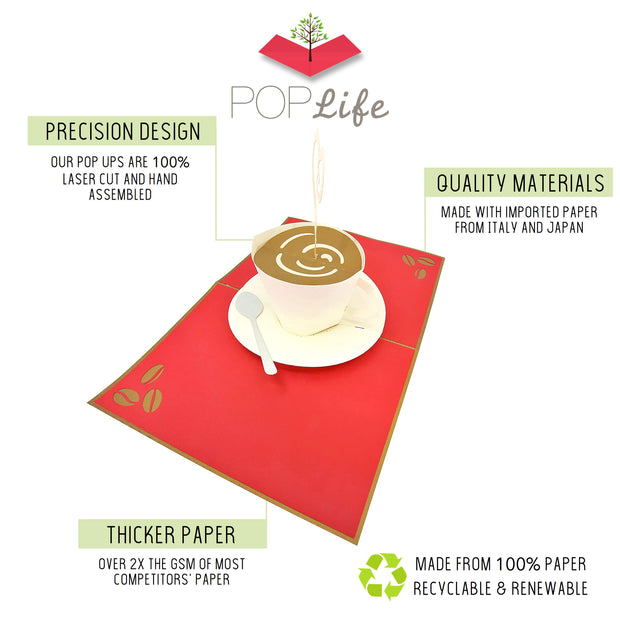 Card with precision design, quality materials, and thicker paper