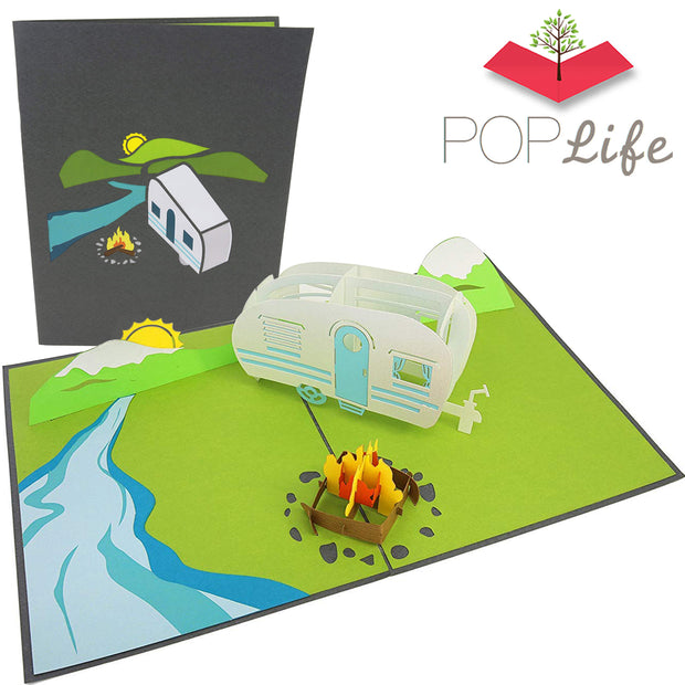 PopLife Camping Trip Pop Up Card