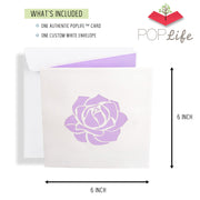Pink Rose Bouquet Pop Up Card