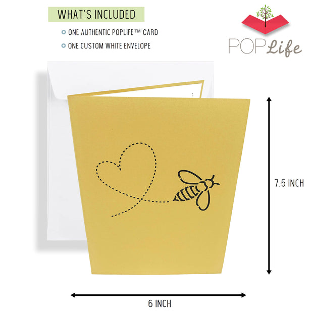 Authentic PopLife Card with Custome White Envelope
