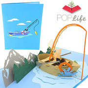 PopLife Fishing Boat Pop Up Card