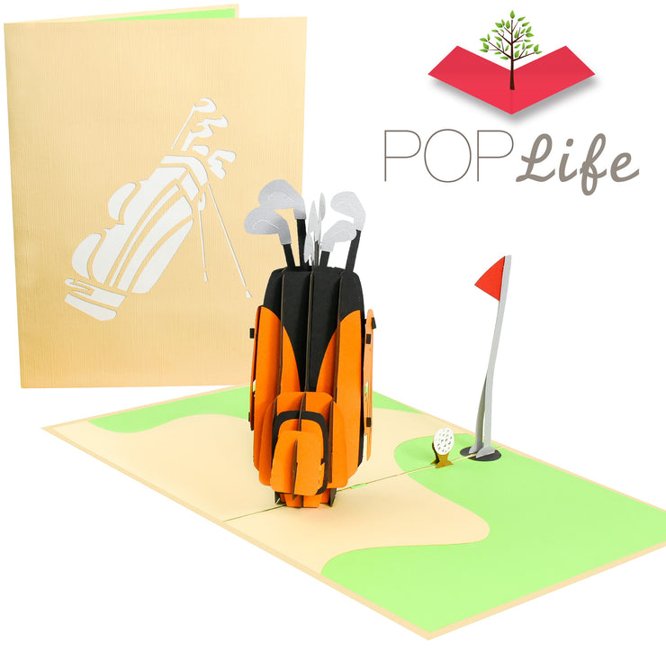 Golf Club and Hole-In-One Pop Up Card