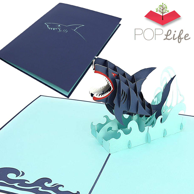 PopLife Great White Shark Pop Up Card