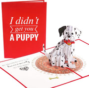 Funny Puppy Pop Up Card - GivePop, $1 donated to the Humane Society