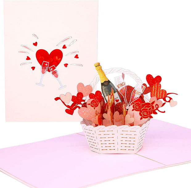 LOVE Basket Pop Up Card