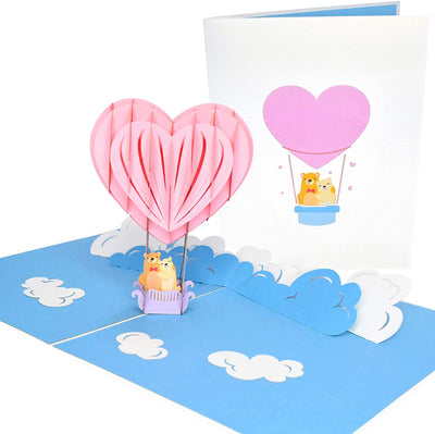 PopLife Hot Air Balloon Heart Pop Up Card