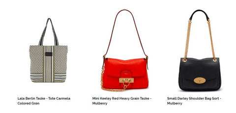 Carmela Colored Grøn 1202-AC-6112 Lala Berlin Taske - Tote Carmela Colored Grøn DKK 369,00 Mulberry Taske - Mini Keeley Lipstick Red RL5960-736L657  Mini Keeley Red Heavy Grain Taske - Mulberry DKK 5.199,00 Small Darley Shoulder Bag Sort - Mulberry Small Darley Shoulder Bag Sort - Mulberry DKK 7.699,00