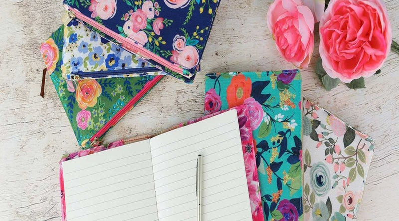 Journals- Canvas w/zipper pocket by Mary Square at Roses On The Vine