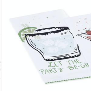 Sassy Cocktails Printed Dishtowels