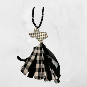 Texas Plaid and Bling Necklace