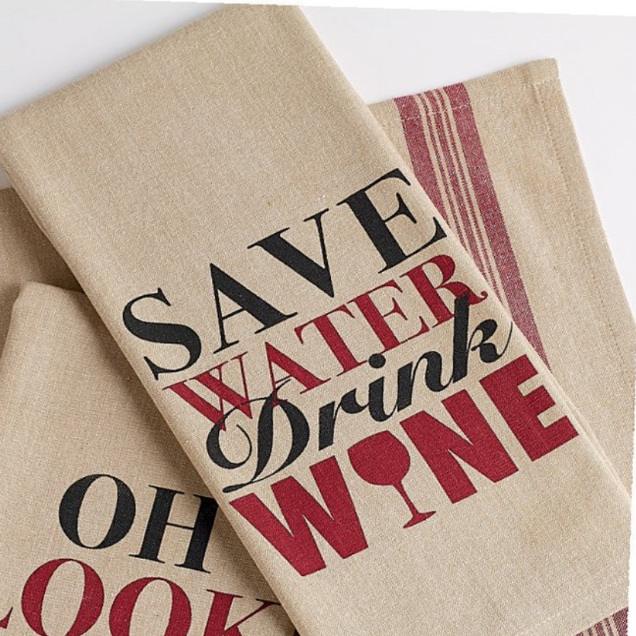 Wine Thoughts Printed Dishtowels