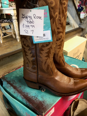 Boots Women's Gypsy Rose brown stitched