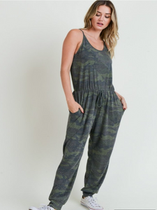 Jodifl Camo Jumpsuit by Roses On The Vine