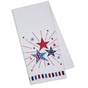 Stars Burst Embellished Dishtowel