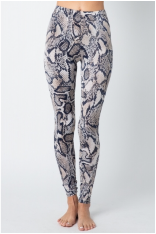 Snake Print Spandex Legging Tights