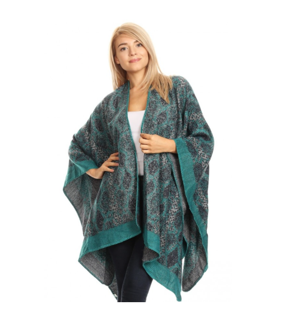 Teal and Blue Cape Wrap