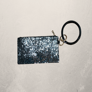 Bracelet Keyring with Zippered Wallet Large