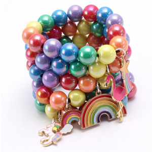 Colorful Bangle Bracelets With Charms