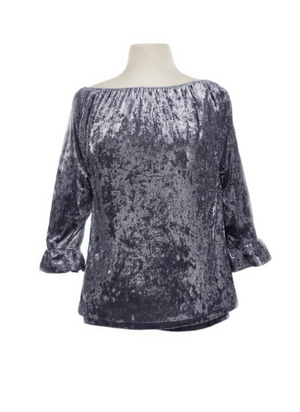 Shirt Crush Velvet Bell Sleeve