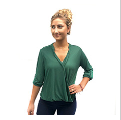 Camille Wrap Blouse