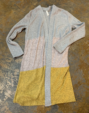 Cozy Cardigan 3 Color Block by Vanilla Bay