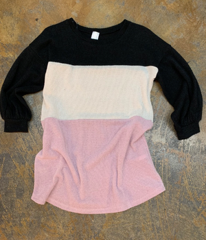 Soft 3 Color Block Shirt by Lilypad