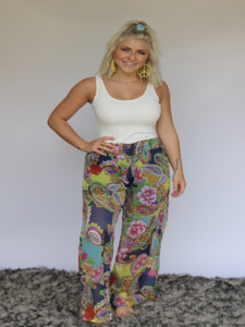 Chiffon Wide Leg Pants by Turquoise Haven