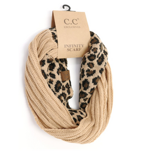 CC Scarf Cable Infinity Leopard Print