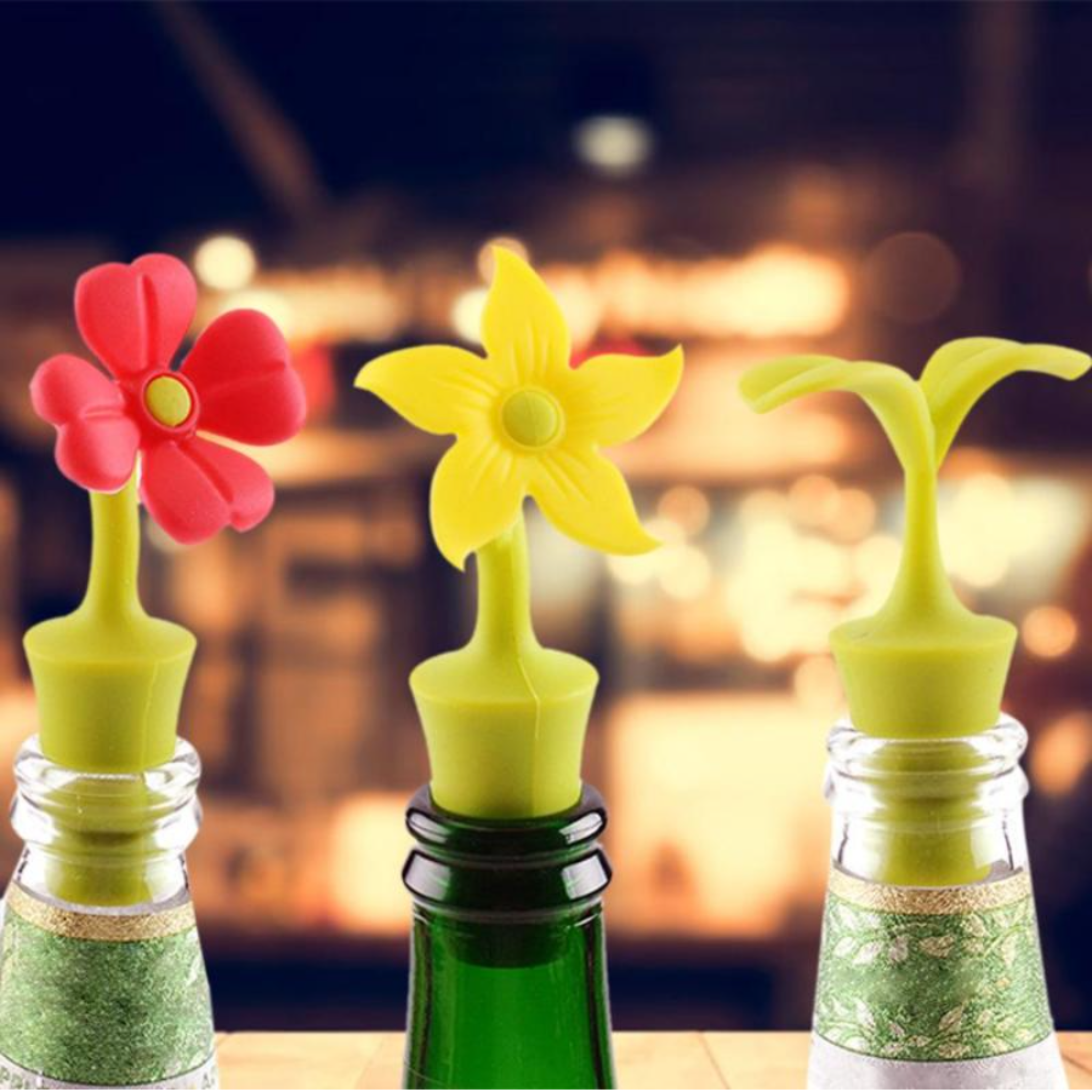 Wine Stopper Flower Shape Silicone